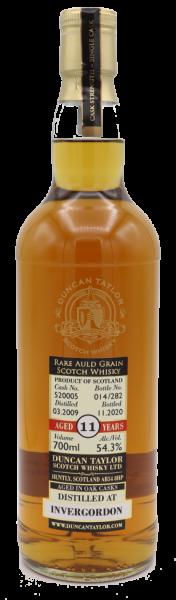 "Duncan Taylor ""Rare Auld Grain"" Invergordon 2009/2020 Cask:520005 CS 54,3% - Ltd. 282 Fl."