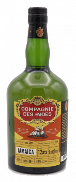 Compagnie des Indes Jamaica 12 ans Single Cask 44%